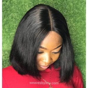 Straight Kim K closure Wig