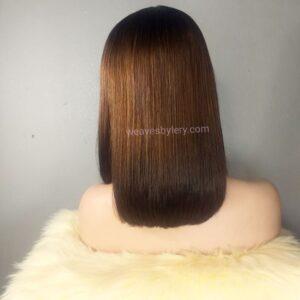 "Super Double Drawn Straight Wig 12"""